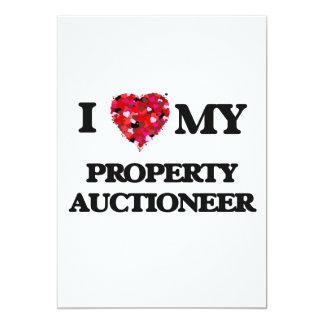 Eu amo meu leiloeiro da propriedade convite 12.7 x 17.78cm