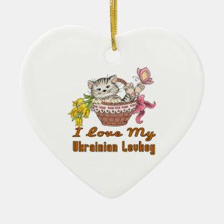 Eu amo meu Levkoy ucraniano Ornamento De Cerâmica