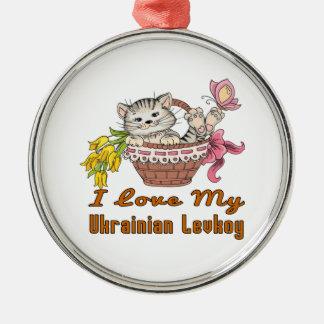 Eu amo meu Levkoy ucraniano Ornamento De Metal
