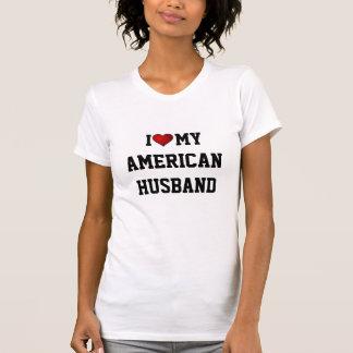 Eu amo meu marido americano camiseta