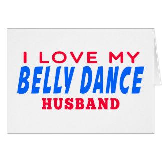 Eu amo meu marido da dança do ventre cartoes