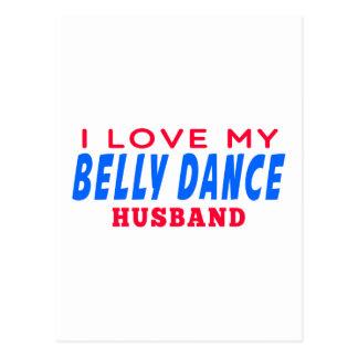 Eu amo meu marido da dança do ventre cartão postal
