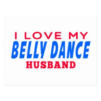 Eu amo meu marido da dança do ventre cartao postal