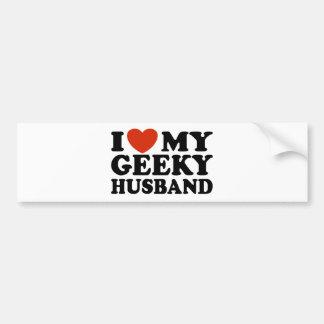 Eu amo meu marido Geeky Adesivo Para Carro