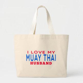 Eu amo meu marido tailandês de Muay Bolsa De Lona