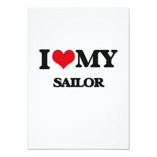 Eu amo meu marinheiro convite personalizados