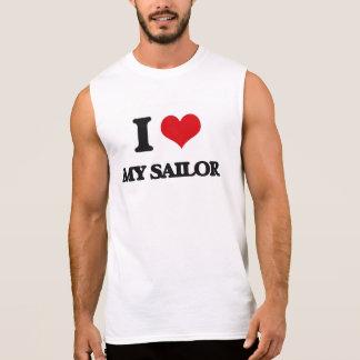 Eu amo meu marinheiro camisa sem manga