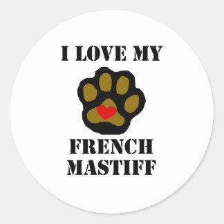Eu amo meu Mastiff francês Adesivo