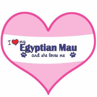 Eu amo meu Mau egípcio o gato fêmea Escultura Fotos