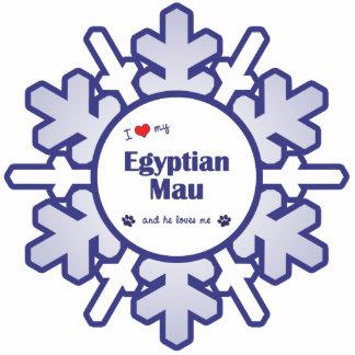 Eu amo meu Mau egípcio (o gato masculino) Escultura Foto