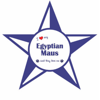 Eu amo meu Maus egípcio os gatos múltiplos Esculturafotos