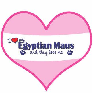Eu amo meu Maus egípcio os gatos múltiplos Esculturafoto