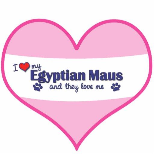 Eu amo meu Maus egípcio (os gatos múltiplos) Esculturafoto
