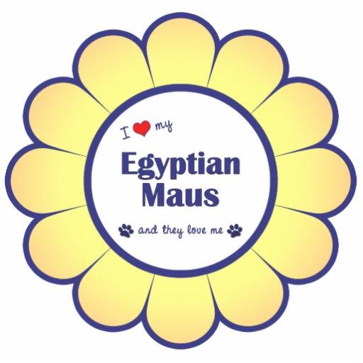 Eu amo meu Maus egípcio (os gatos múltiplos) Fotoesculturas