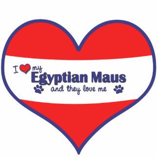 Eu amo meu Maus egípcio (os gatos múltiplos) Escultura De Fotos