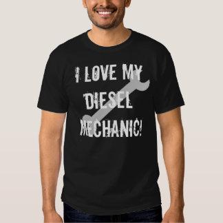 Eu amo meu mecânico diesel, escuro tshirts