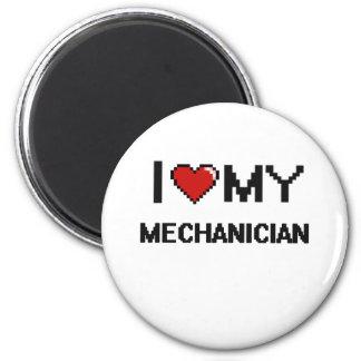 Eu amo meu Mechanician Ímã Redondo 5.08cm