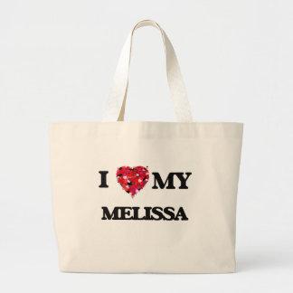 Eu amo meu Melissa Sacola Tote Jumbo