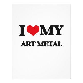 Eu amo meu METAL da ARTE Panfletos Personalizados
