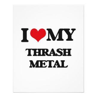 Eu amo meu METAL do THRASH Panfleto
