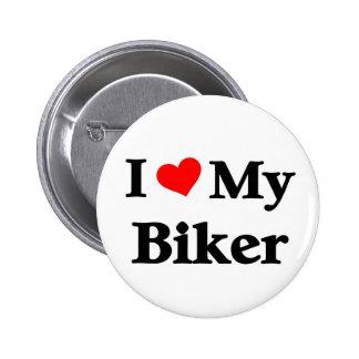eu amo meu motociclista botons