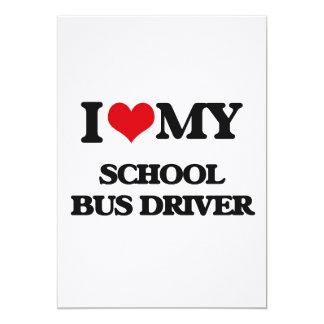 Eu amo meu motorista de auto escolar convite personalizado