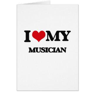 Eu amo meu músico cartão