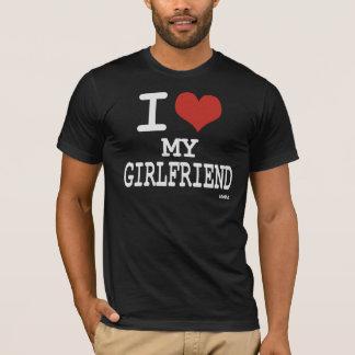 Eu amo meu namorada camiseta