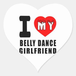 Eu amo meu namorada da dança do ventre adesivos de corações