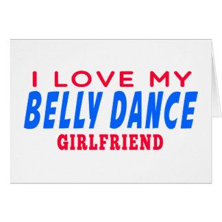 Eu amo meu namorada da dança do ventre cartao