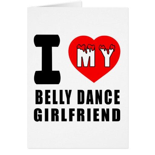 Eu amo meu namorada da dança do ventre cartão