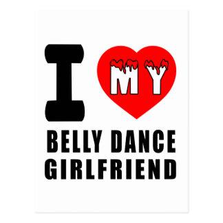 Eu amo meu namorada da dança do ventre cartão postal