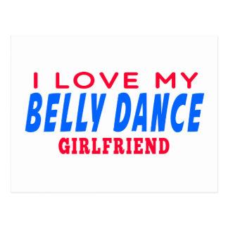 Eu amo meu namorada da dança do ventre cartao postal