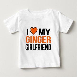 Eu amo meu namorada do gengibre camiseta para bebê