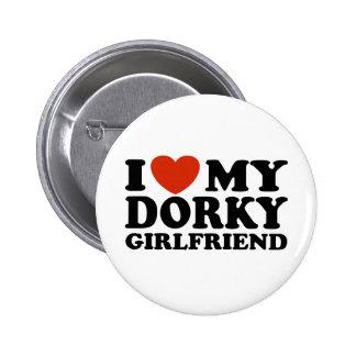 Eu amo meu namorada Dorky Bóton Redondo 5.08cm