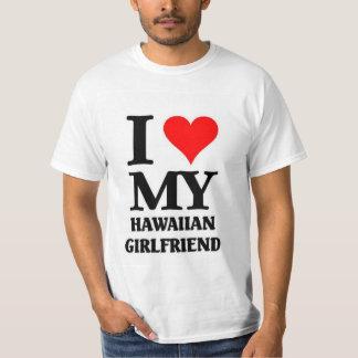 Eu amo meu namorada havaiano camisetas