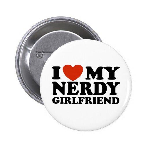 Eu amo meu namorada Nerdy Boton