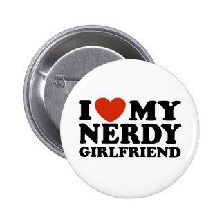Eu amo meu namorada Nerdy Bóton Redondo 5.08cm