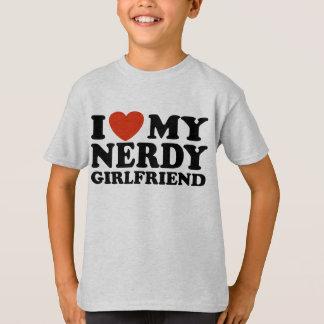 Eu amo meu namorada Nerdy Tshirt