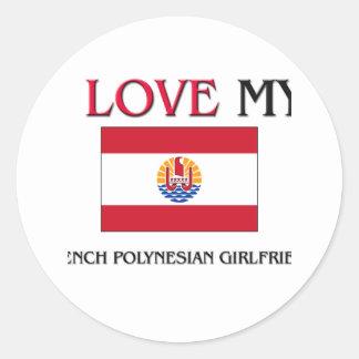 Eu amo meu namorada polinésio francês adesivo