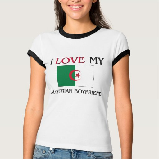 Eu amo meu namorado argelino t-shirt