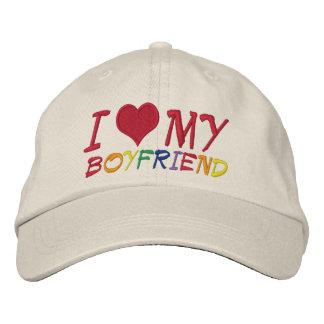 Eu amo meu namorado boné bordado