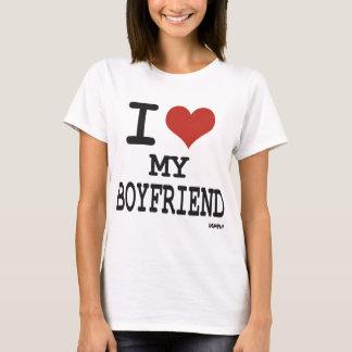 Eu amo meu namorado camiseta