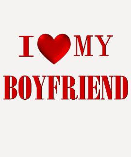 Eu amo meu namorado t-shirt