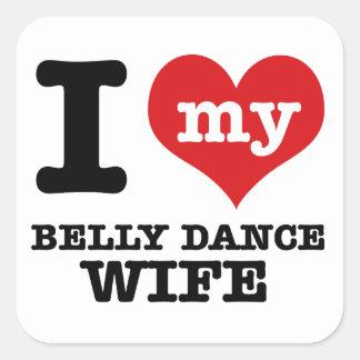 Eu amo meu namorado da dança do ventre adesivo quadrado