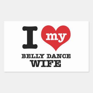 Eu amo meu namorado da dança do ventre adesivo retangular