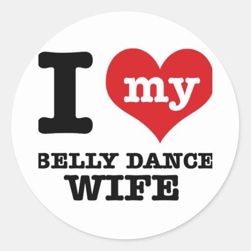 Eu amo meu namorado da dança do ventre adesivo redondo