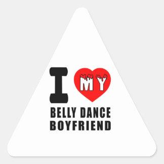 Eu amo meu namorado da dança do ventre adesivo em forma de triângulo