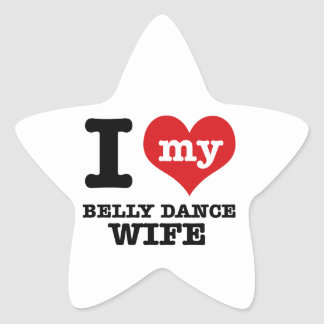 Eu amo meu namorado da dança do ventre adesivos estrelas