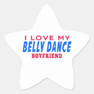 Eu amo meu namorado da dança do ventre adesivo estrela